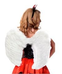 Крылья перьеывые закругленные 60х50см белые