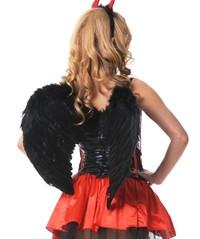 Крылья ангела перьевые 60х50см черные