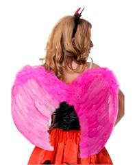 Крылья перьеывые закругленные 60х50см розовые