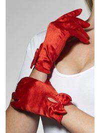 Перчатки Леди атласные (красные) (Fever)