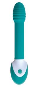 Вибростимулятор HONEY POT серии Impressions силикон, 5 режимов вибрации (зеленый)