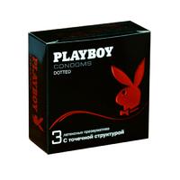 Презервативы Playboy латексные с точечной структурой. уп.3шт.