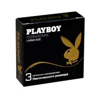 Презервативы Playboy латексные увеличенного размера. уп.3шт.