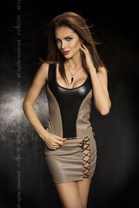 Комплект:нижняя юбка+топ+стринги,серый,твоя вторая кожа