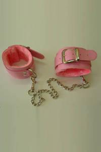 Оковы розовые с мехом винил