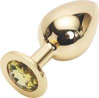 GOLDEN PLUG LARGE (металл.) цвет кристалла жёлтый
