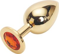 GOLDEN PLUG LARGE (металл.) цвет кристалла ОРАНЖЕВЫЙ