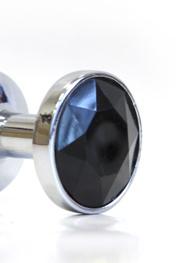 Мини-плаг из стали с кристаллом. Цвет в ассортименте