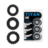 Набор эреционных колец TITAN имитация автомобильных шин