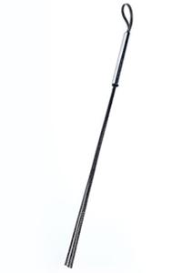 Стек чёрный с серебристой ручкой