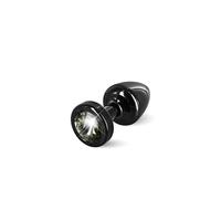 ANNI round black T1-Black Diamond Анальная пробка (черная, черный кристалл) диам.2,5 см