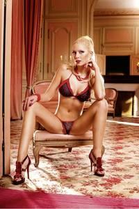Barbie Комплект белья OS (42-46), черный/красный