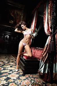 Dolce Vita G-Стринги Розовые  со светло-серой кружевной кромкой