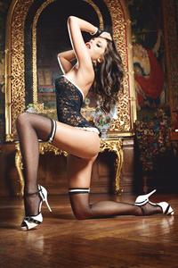 Чулки French Maid высокие черные (42-46)