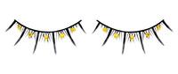 Ресницы чёрные с жёлтыми стразами