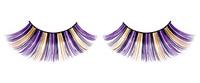 Ресницы фиолетово-черно-желтые