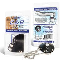Утяжка для мошонки из искусственной кожи с цепочками PARACHUTE BALL STRETCHER