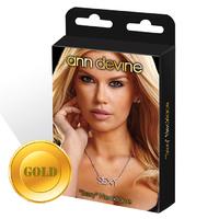 Цепочка с подвеской SEXY золотая