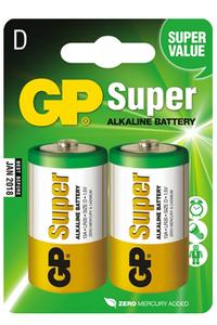 Батарейка Super LR20 (алкалин) в блистере по 2 шт.