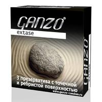 Презервативы GANZO Extase №3 точечные, ребристые, анатомической формы -1 блок (24 уп)