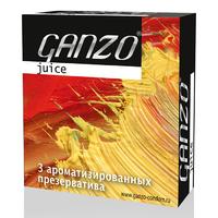 Презервативы GANZO Juice №3 цветные и ароматизированые -1 блок (24 уп)