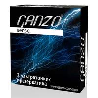 Презервативы GANZO Sense №3 ультратонкие -1 блок (48 уп)