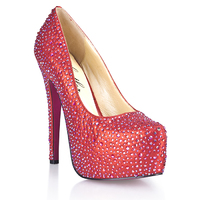Красные туфли в кристаллах PROVACATIVE 9