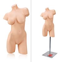 Манекен девушка торс на металлической подставке (левый)