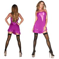 Розовое платье без бретелей HUSTLER