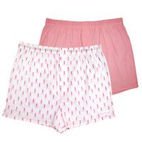 Пара розовых мужских трусов-шортов HUSTLER