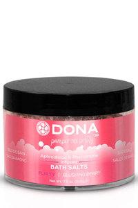 Соль для ванны меняющая цвет воды DONA Bath Salt Flirty Aroma: Blushing Berry 215 г