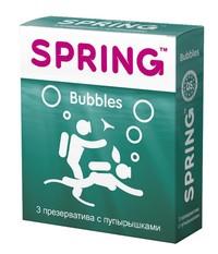 Презервативы SPRING™ Bubbles, 3 шт./уп. (с пупырышками)