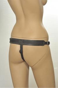 Трусики Kanikule Leather Strap-on Harness vac-u-lock Anatomic Thong черный