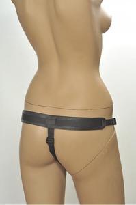 Трусики Kanikule Leather Strap-on Harness  Anatomic Thong черный