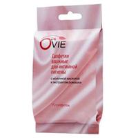 Салфетки влажные O'vie для интимной гигиены с молочной кислотой и экстрактом ромашки
