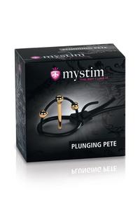 Кольцо на головку с электростимуляцией Plunging Pete со стимуляцией уретры черное