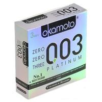 Презервативы OKAMOTO Platinum №3 супер тонкие -1 блок (24 уп)