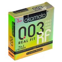 Презервативы OKAMOTO Real Fit №3 супер тонкие облегающей формы - 1 блок (24 уп)