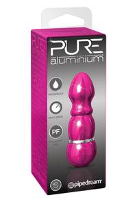 Вибромассажер PURE ALUMINIUM - PINK SMALL рельефный розовый