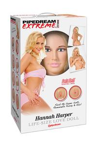 Кукла надувная Pipedream Extreme Dollz Hannah Harper Life-Size Love Doll с вставками блондинка.