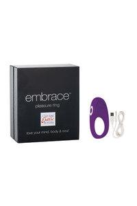 Перезаряжаемое эрекционное кольцо с вибро-стимулятором Embrace Pleasure Ring фиолетовое