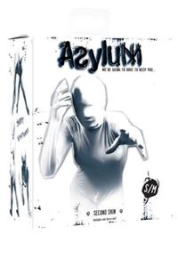 Кэтсьюит Asylum с маской на голову, белый, S/M